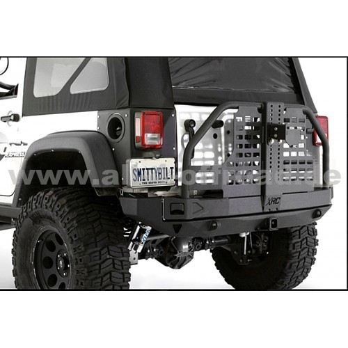 hd reserveradhalter hinten smittybilt f r jeep wrangler jk 2007 all 4 offroad 4x4. Black Bedroom Furniture Sets. Home Design Ideas