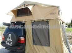 Dachzelt Escape 220 cm mit Vorraum für 6 Personen - Lange Ausführung